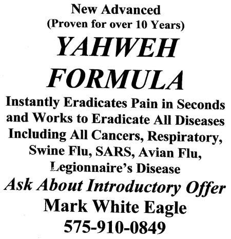 yahweh formula